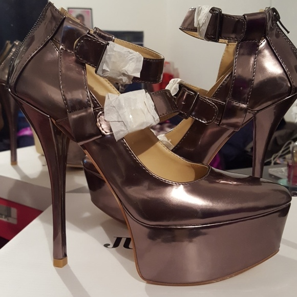 to buy cheapest price low cost JustFab Shoes | Hot Pewter Stilettos | Poshmark